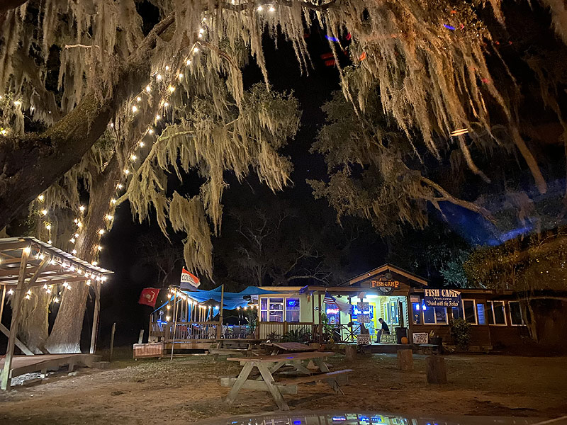 Dine with us at the Fish Camp Restaurant at Big Oak RV Park